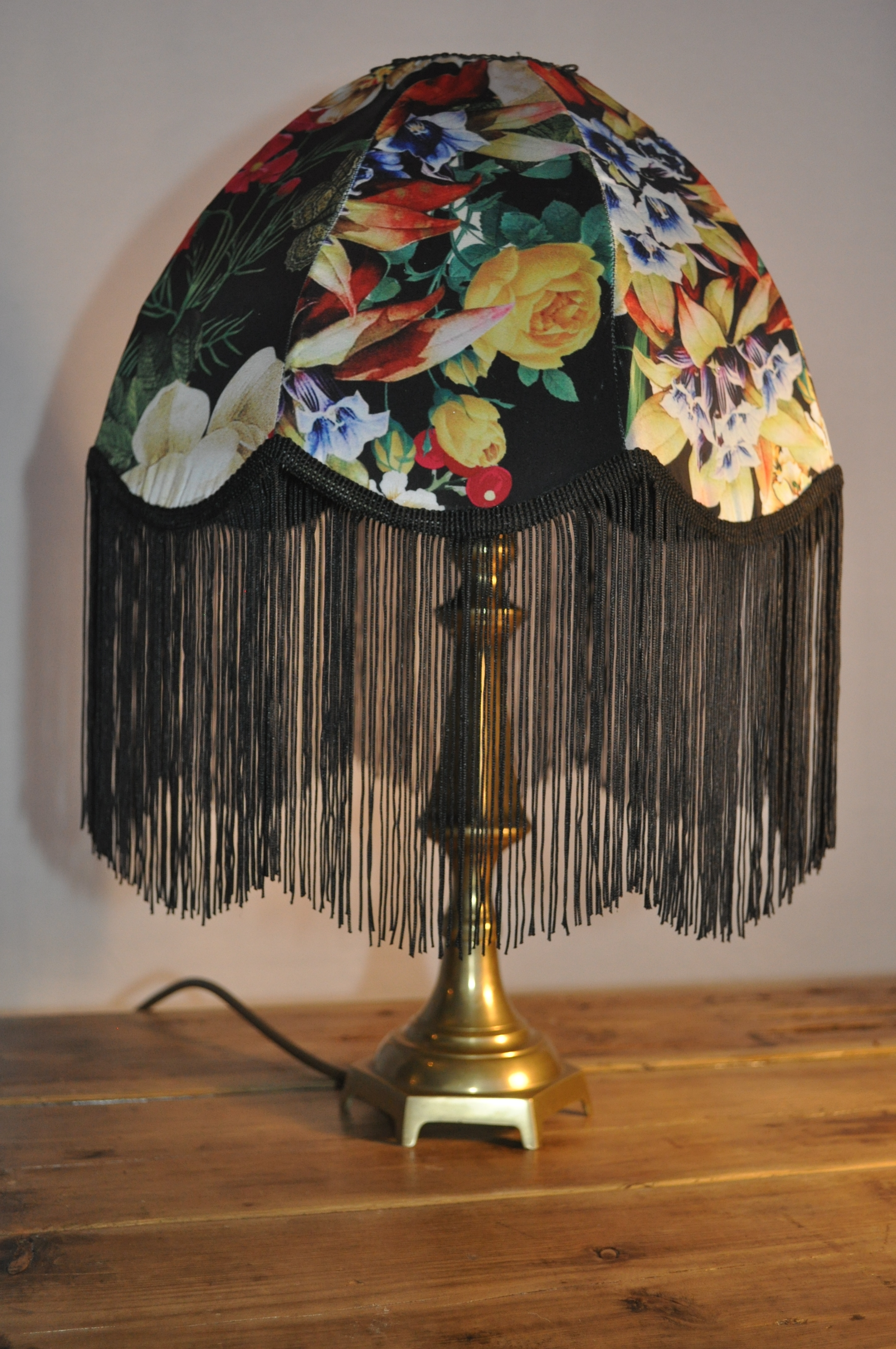 Black And Flower Parachute Dome Shade Buy Antique Lamp Shades Online Handmade Up Cycled Light Shades