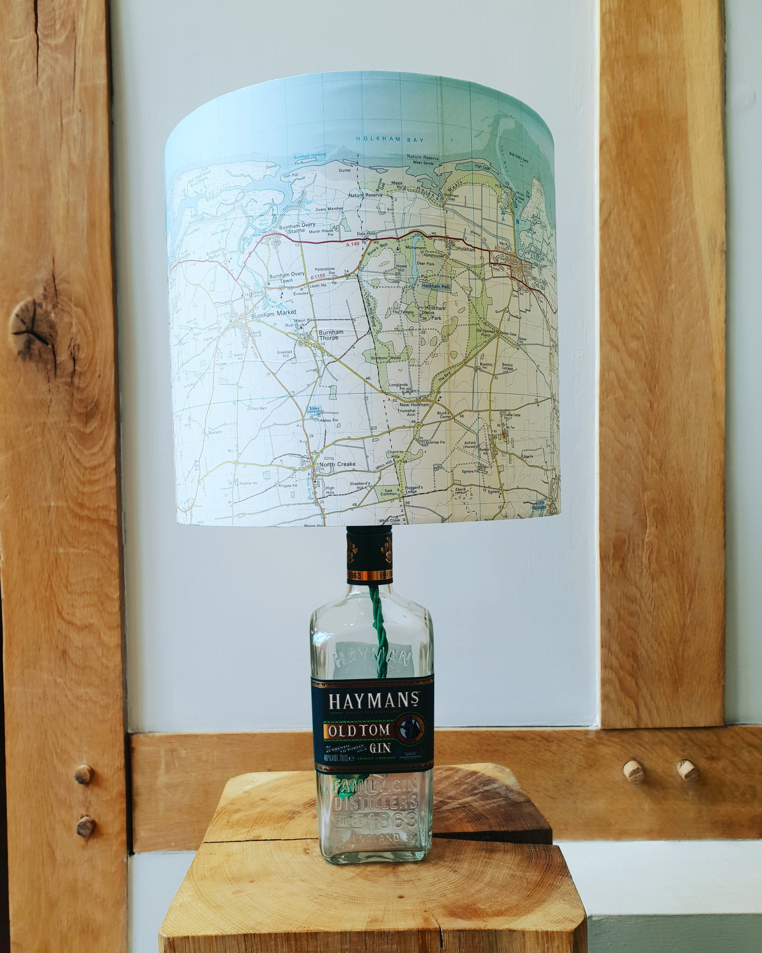 Haymens Gin and Norfolk coast lampshade.jpg