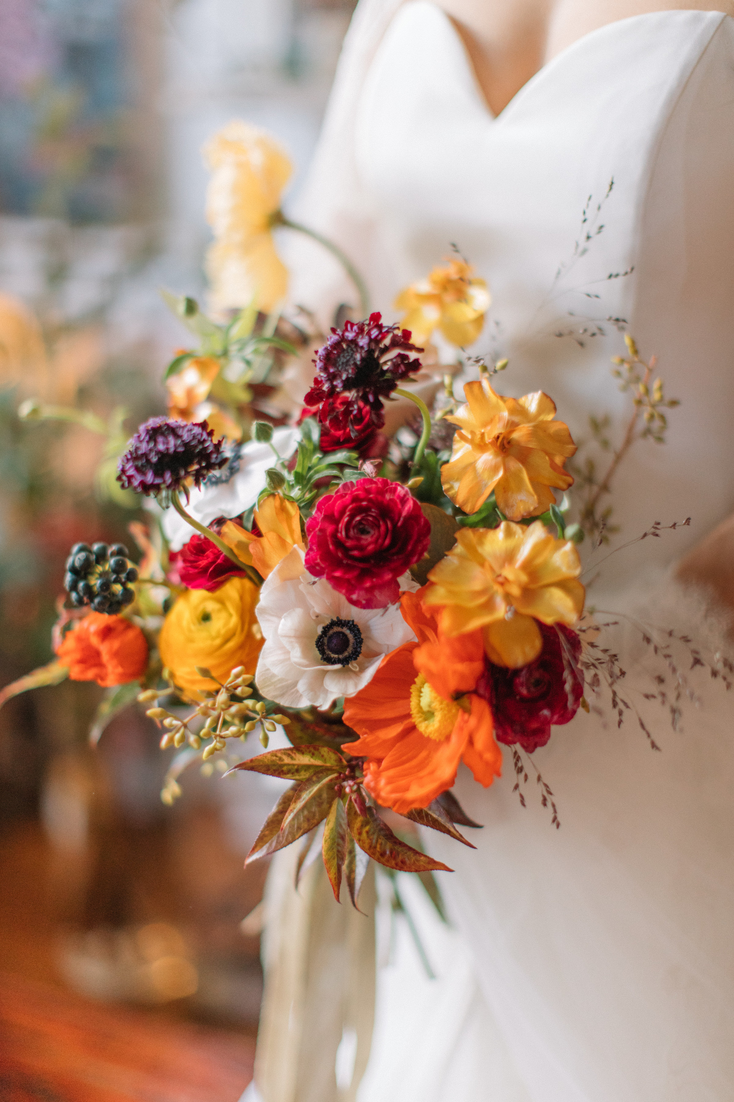 Seasonal British Bridal Bouquet