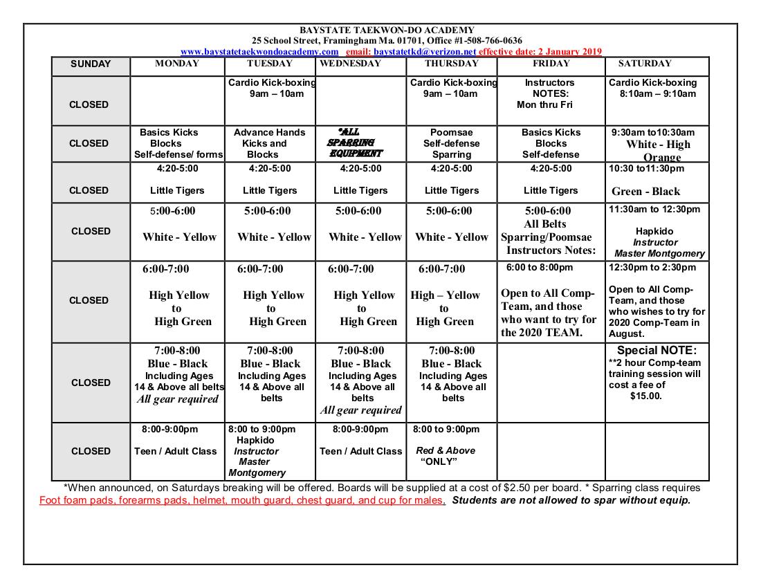 Baystate TKD Schedule  effective  20190107.jpeg
