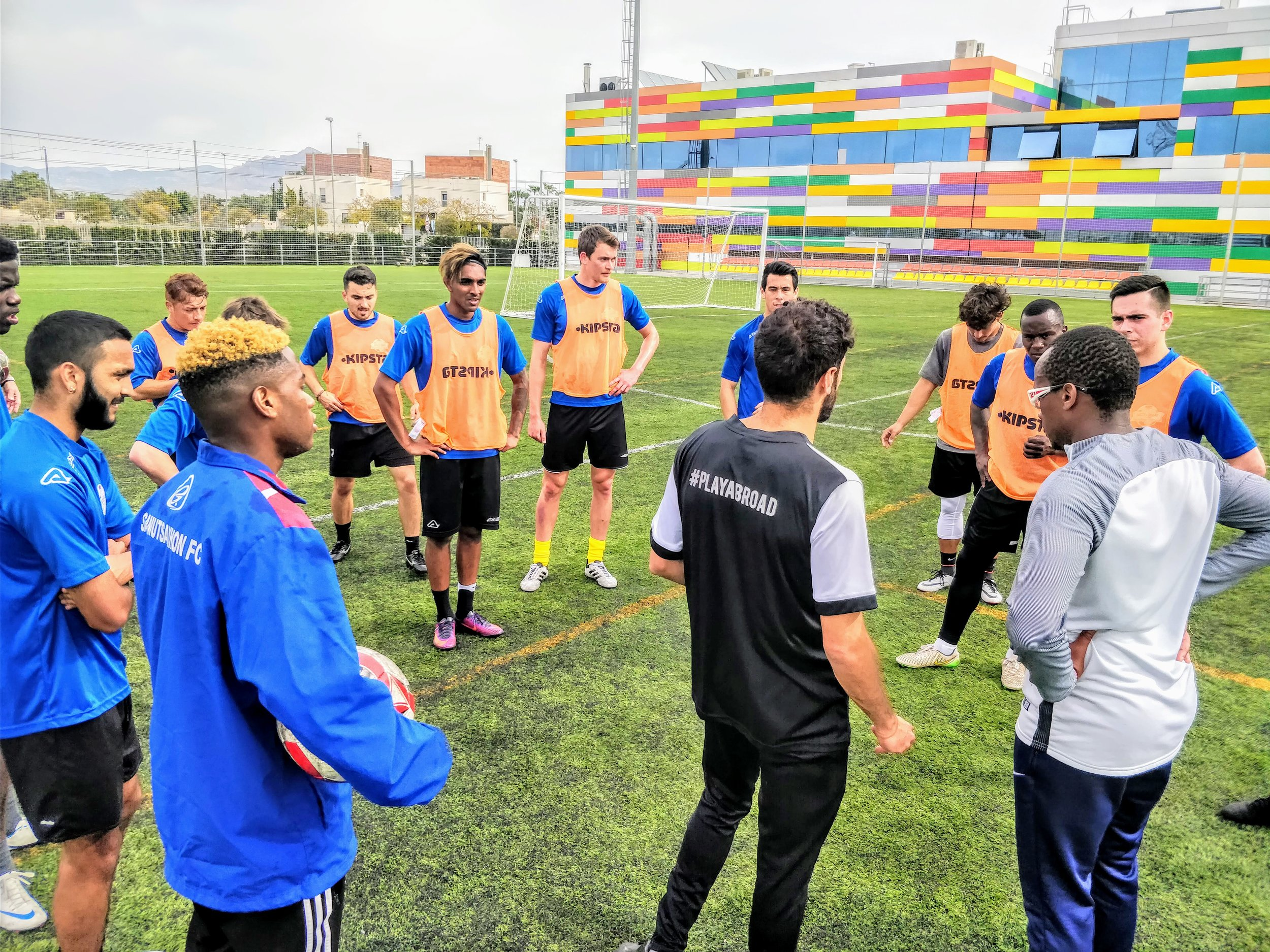 Our coaches have experience in English and Spanish football.