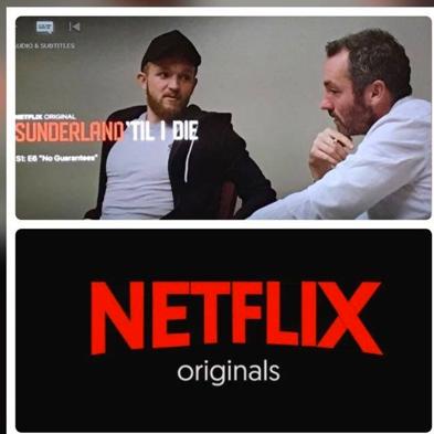 Steve in action during the Netflix documentary talking to former Sunderland player Jonny Williams