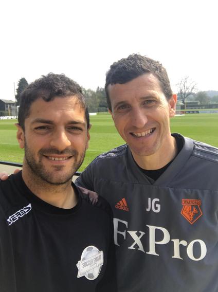 Phil with Watford manager Javi Gracia
