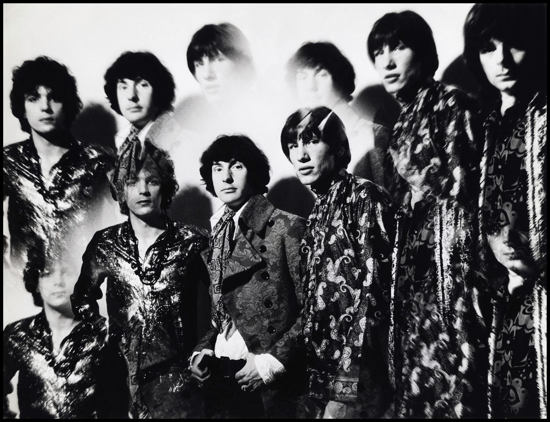 Pink Floyds originaluppsättning med Syd Barrett, som senare ersattes av David Gilmour.