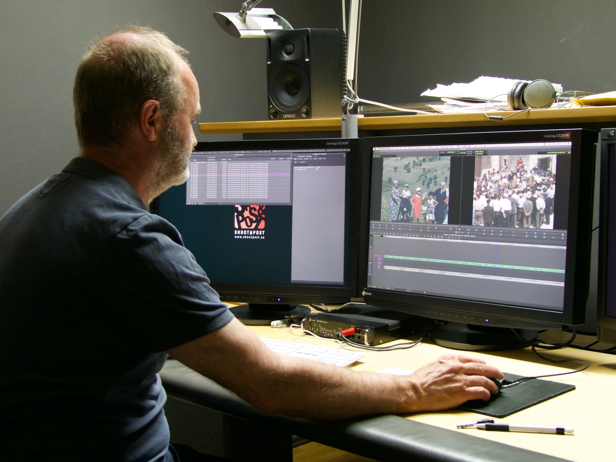 Michael Sevholt i firmans online-svit med en Super 8-millimeters skannad film från projektet  La Spartenza.