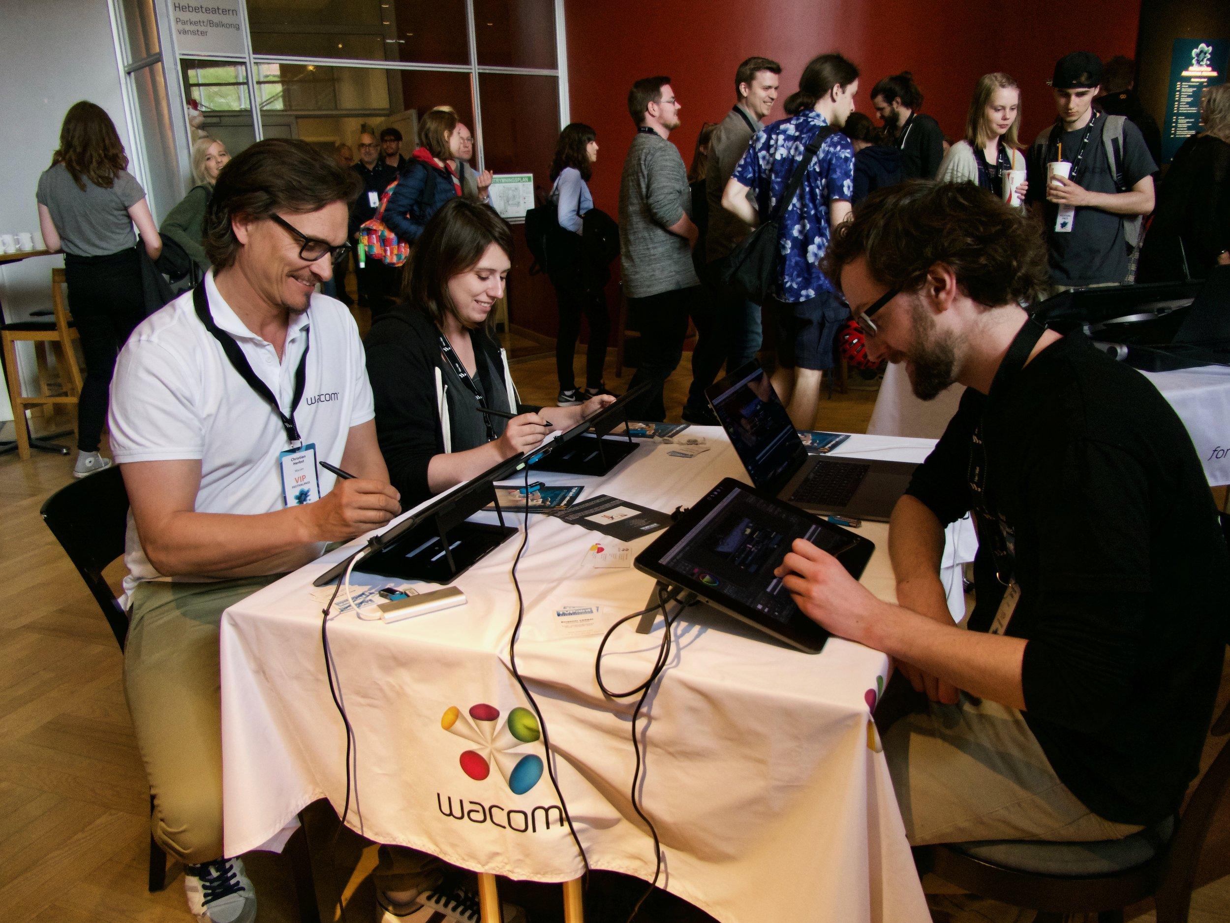 TV Paint och Wacom visade upp både hård- och mjukvara för besökarna på festivalen.