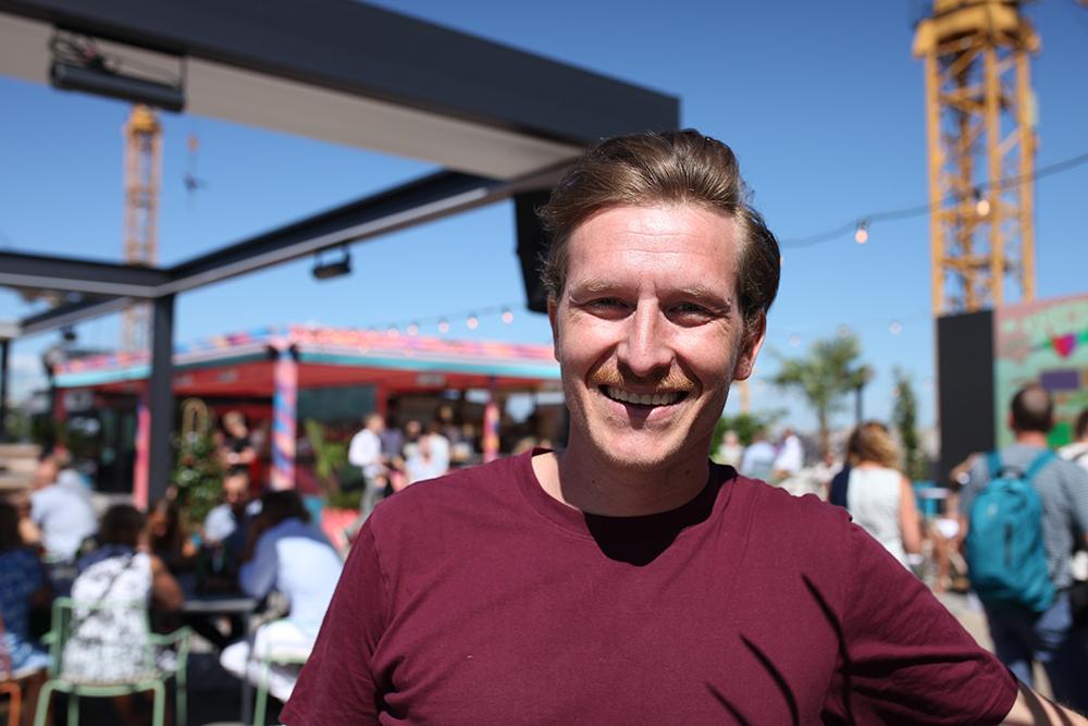 Dot Audios Martin Kling uppe på den teknikspäckade takterrassen. Foto: John Sempill.