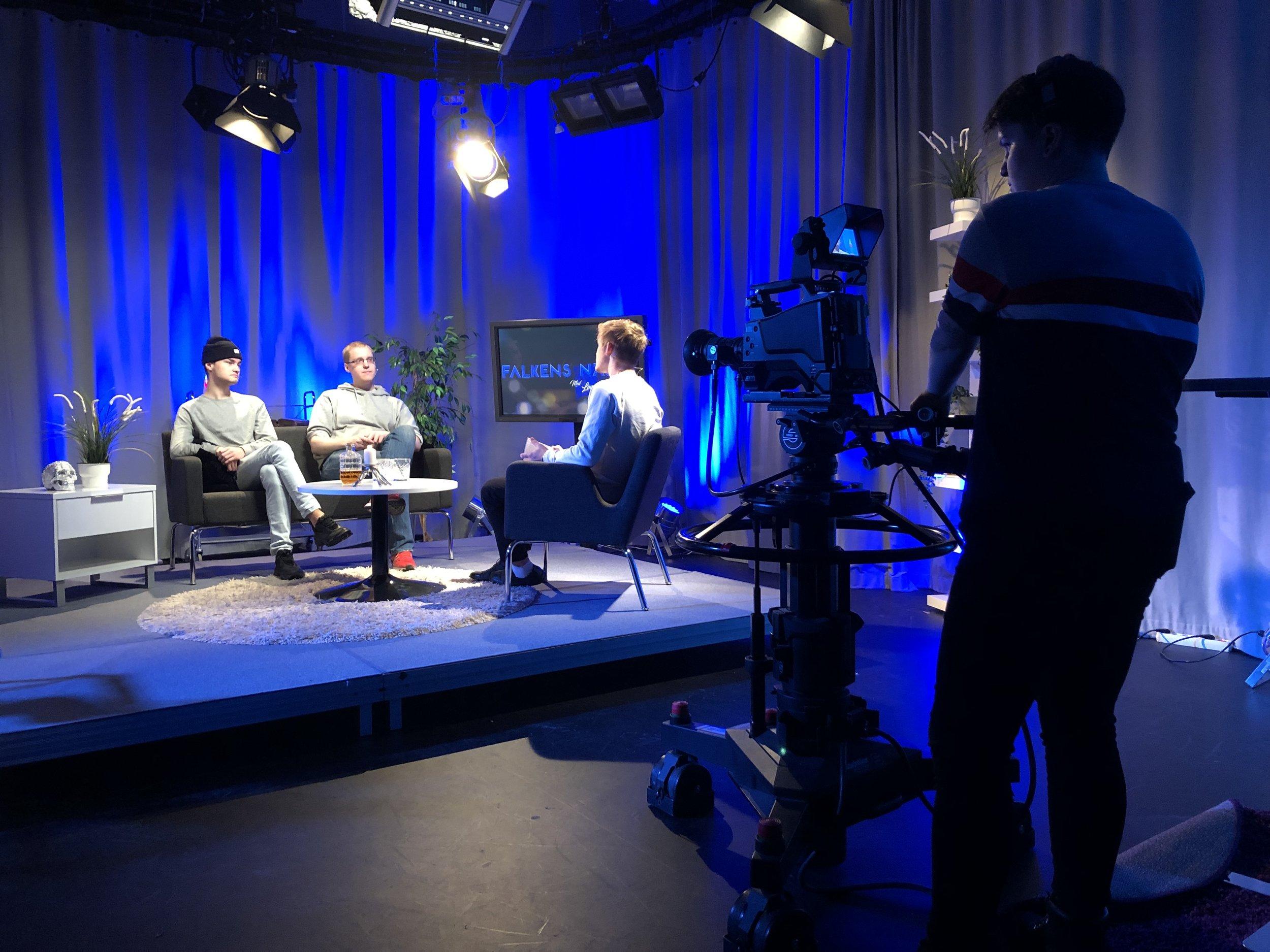 Tv-studioprojekt i A-studion på Xenter i Botkyrka.