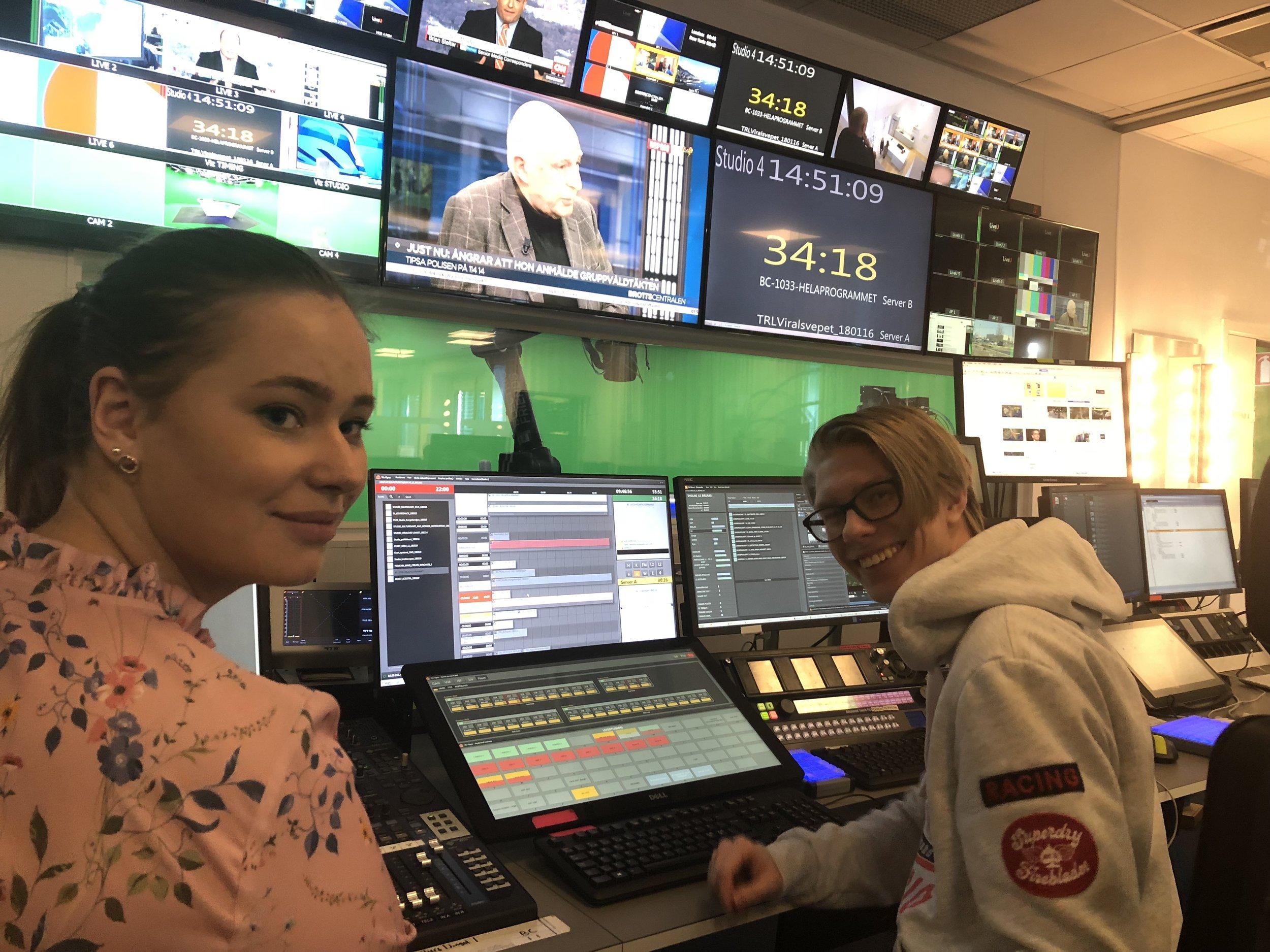 Anna Larsson och Fredrik Svensson gjorde LIA på Expressen som sändningsproducenter hösten 2018.