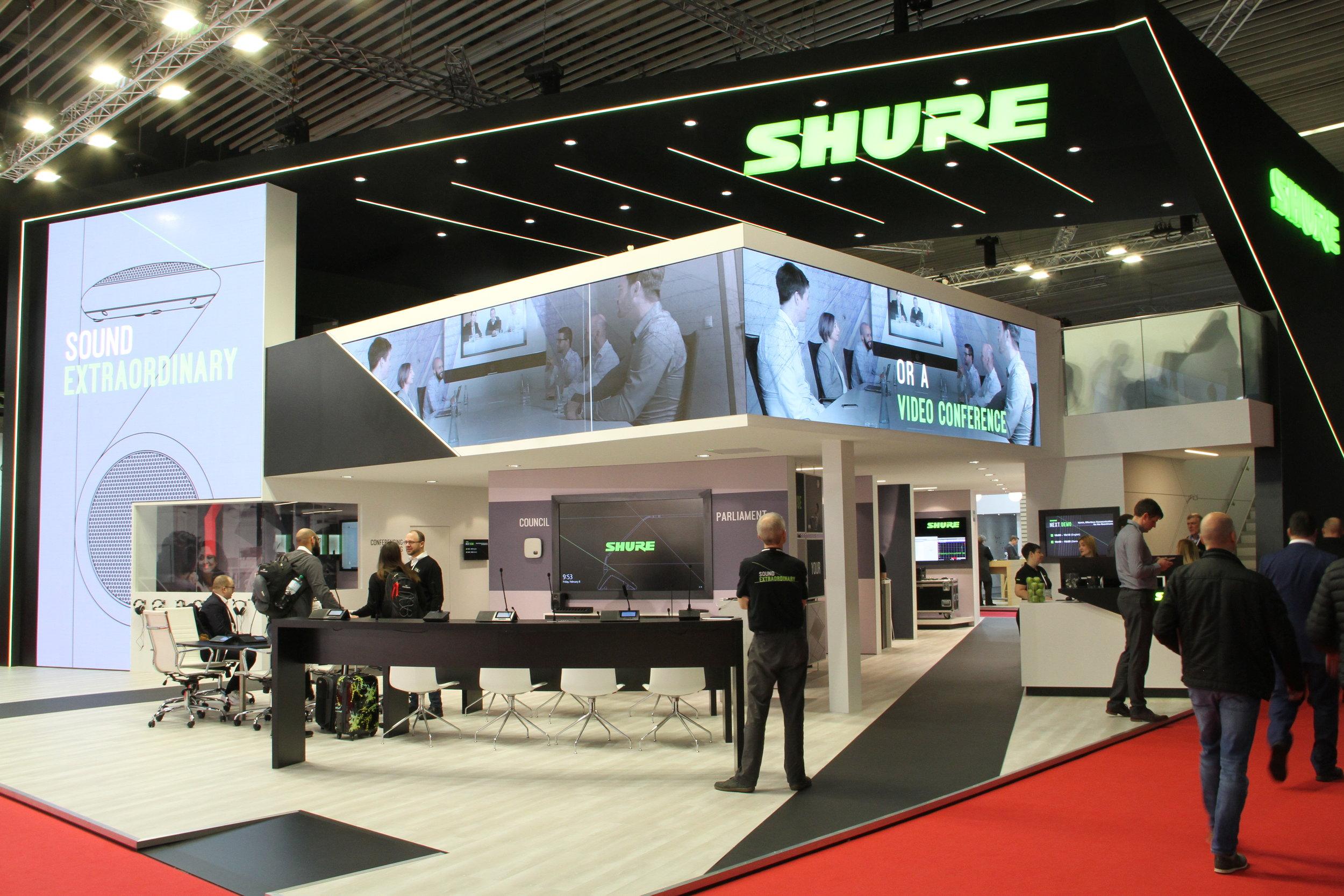 Shure-montern på ISE 2019.