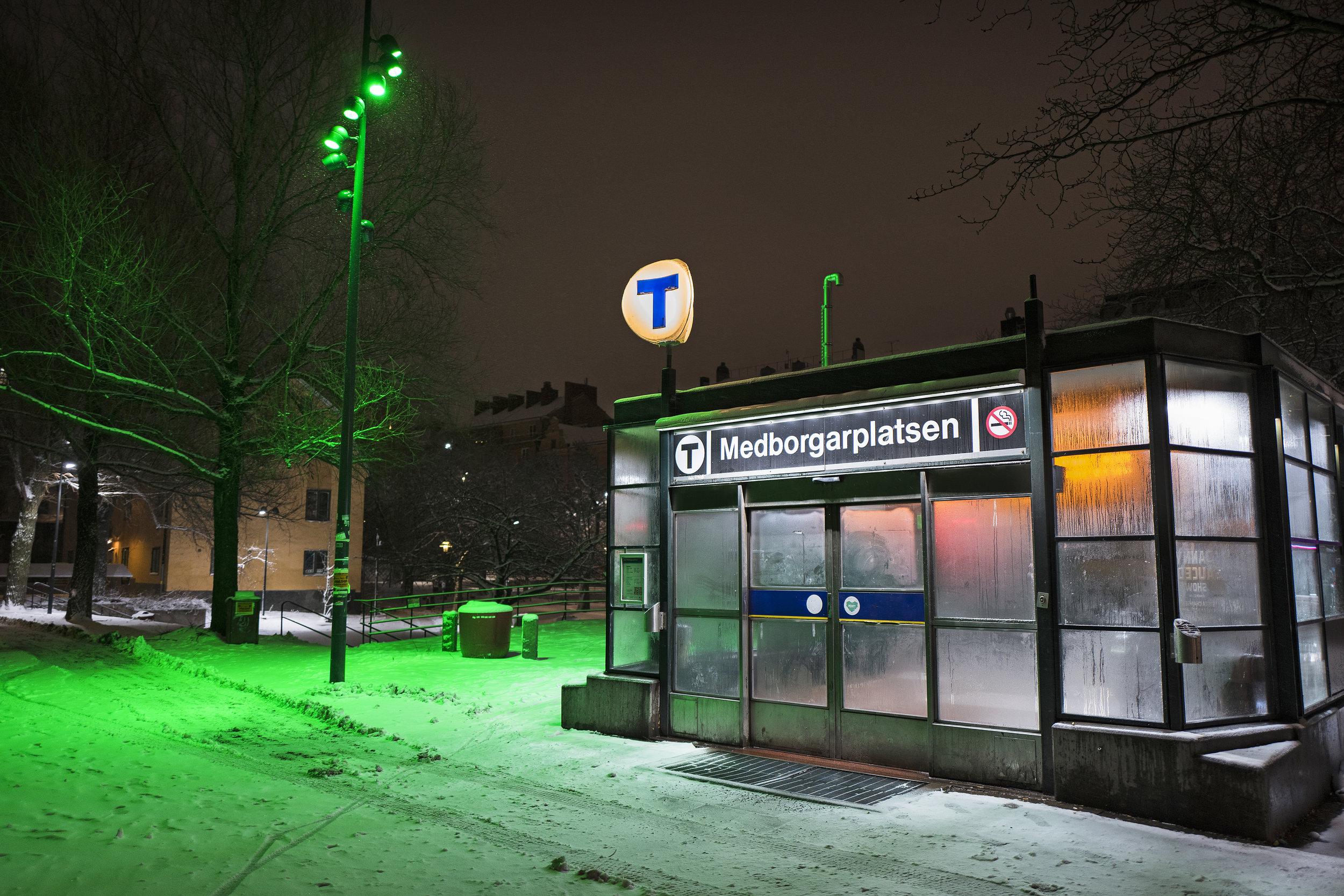 -14°C och med 15 minuters promenad från Medborgarplatsen för att komma in i hemmets värme, var det nära att Christoffer gav upp. Foto: Christoffer Hjalmarsson.