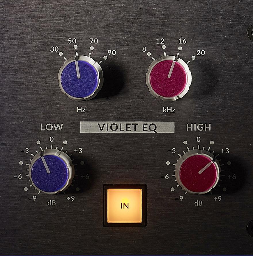 Förföriskt snyggt är det att lägga till extra botten eller topp med Fusions Violet EQ – SSL:s första nya eq design på 25 år.