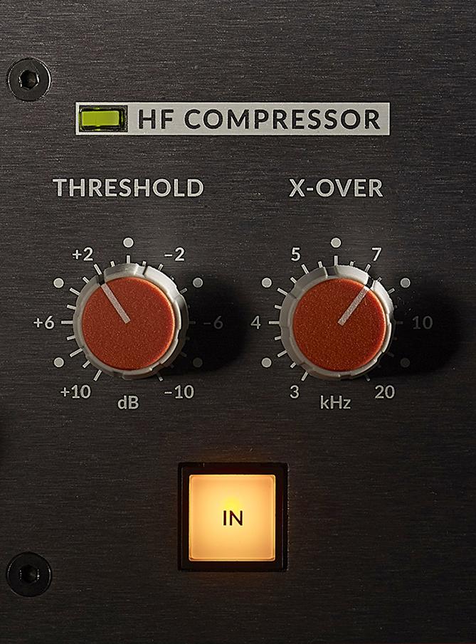För att tämja ljudkällor som ibland blir lite för vassa får vi en splitbandkompressor som kan agera i diskanten men lämna allt nedanför orört.