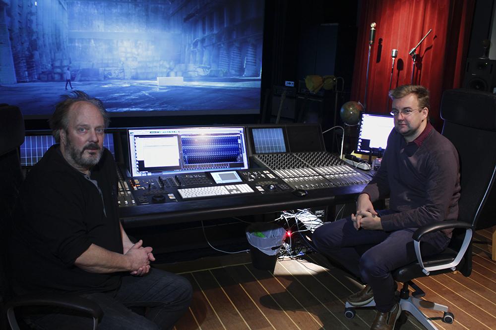 Från vänster: Micke Brodin (Ljudbang), Sebastian Guest (Terrassen Post Production) / Foto: Kent Moorhead