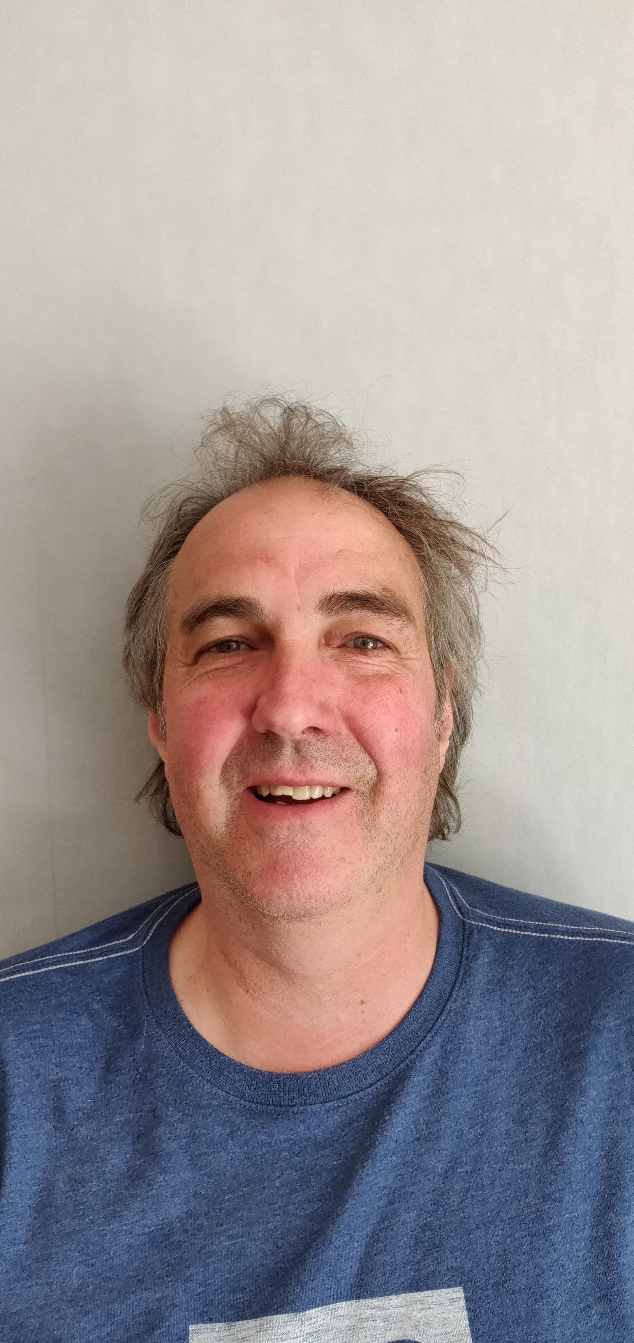 Greg Neville, teknikansvarig i hallarna på Stockholmsmässan.