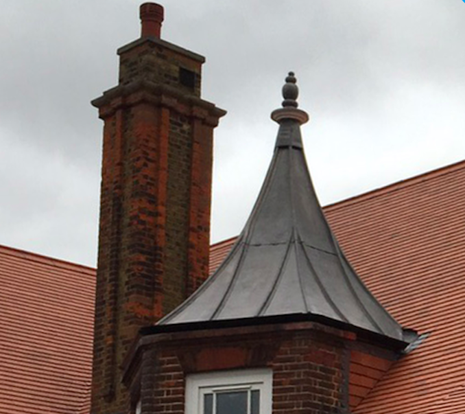 Turret with new sphere and lead covering