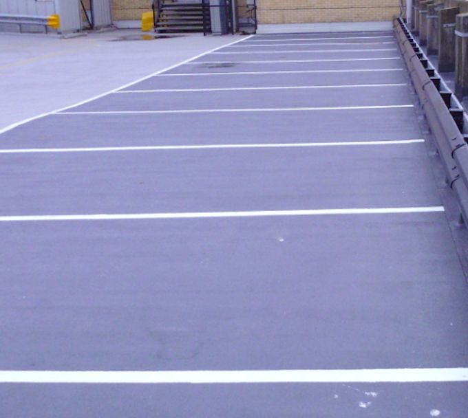 Re-surfaced Car Park
