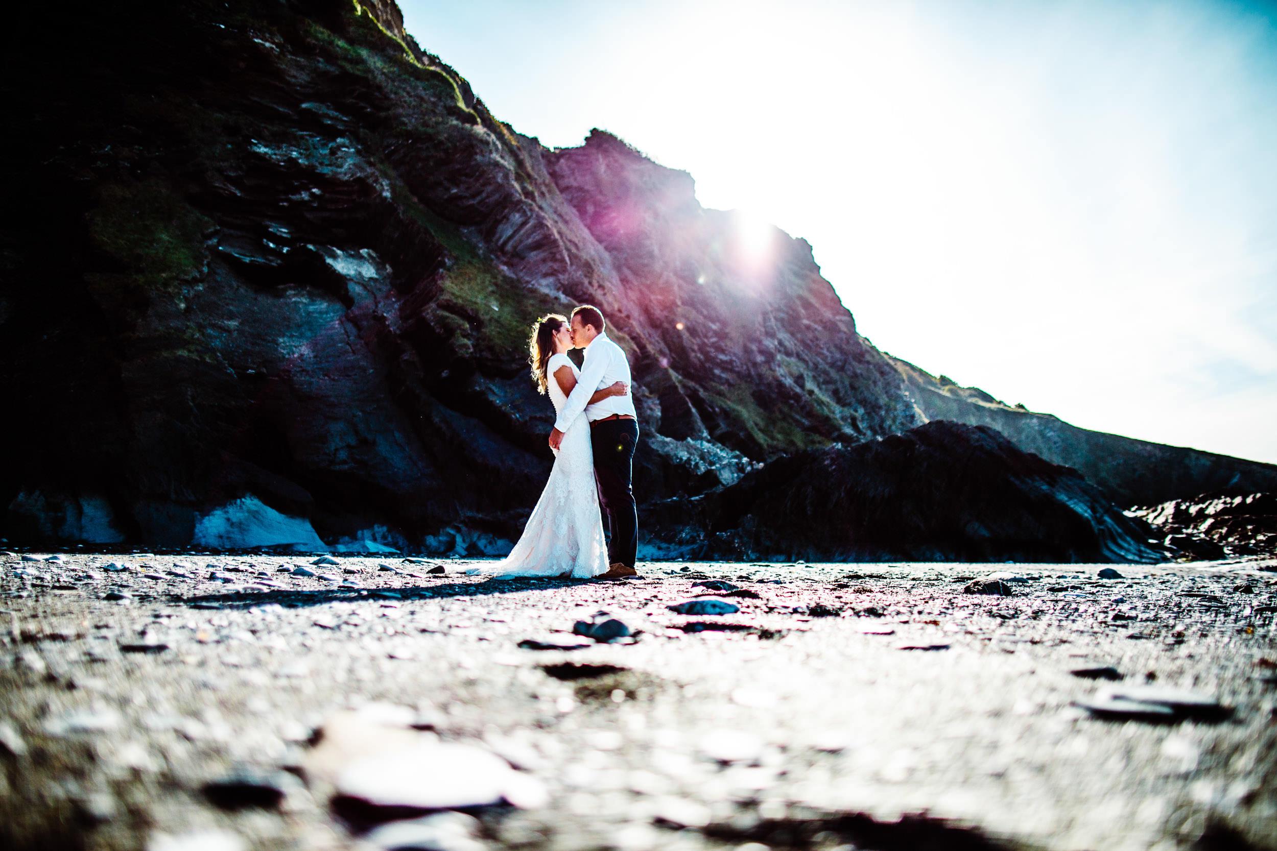 Tunnels Beaches Wedding - Devon - K+A
