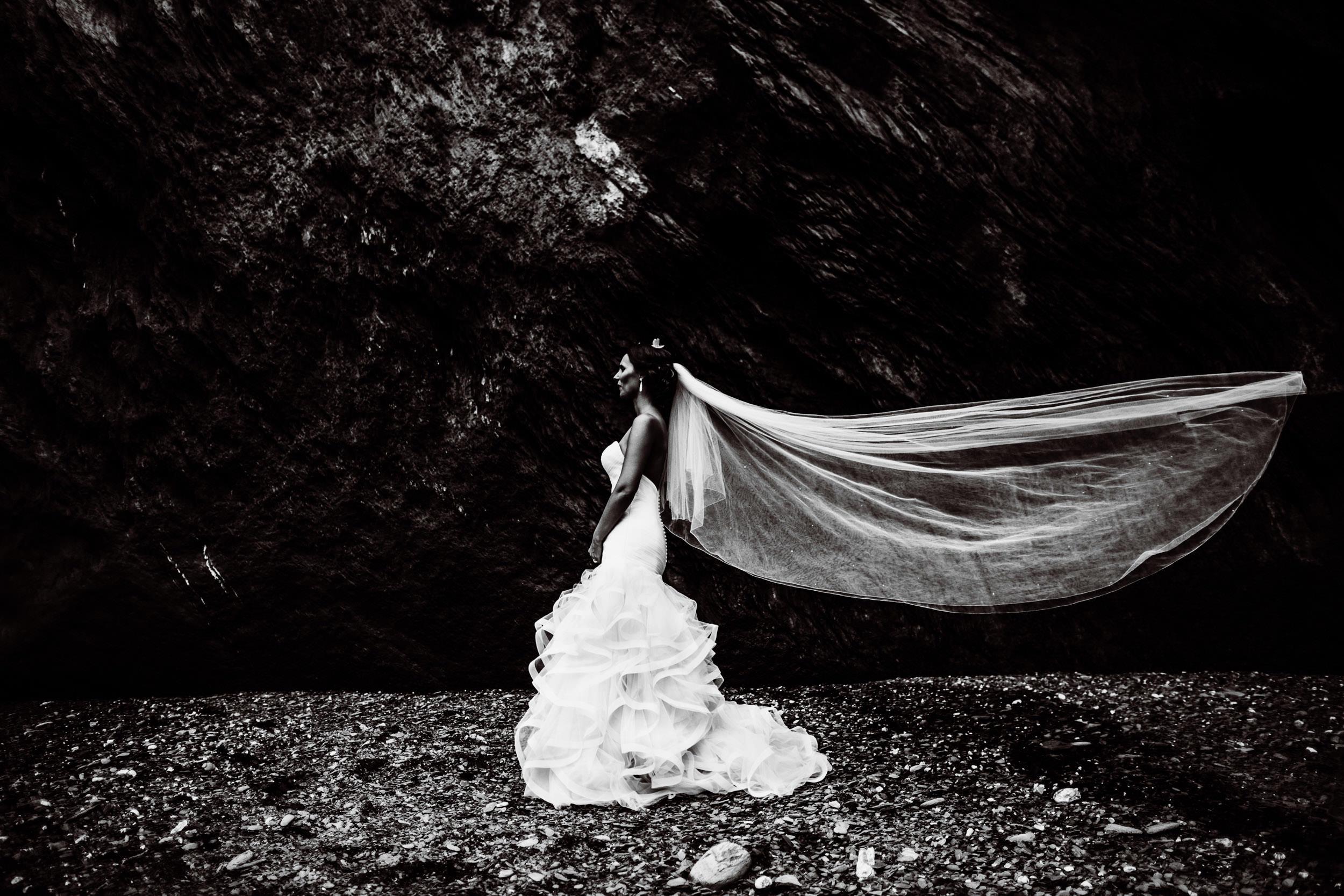 Tunnels Beaches Wedding - Devon - K+C