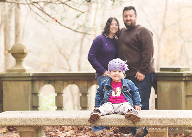 parents and 2 year old daughter ridley creek state park family fun session
