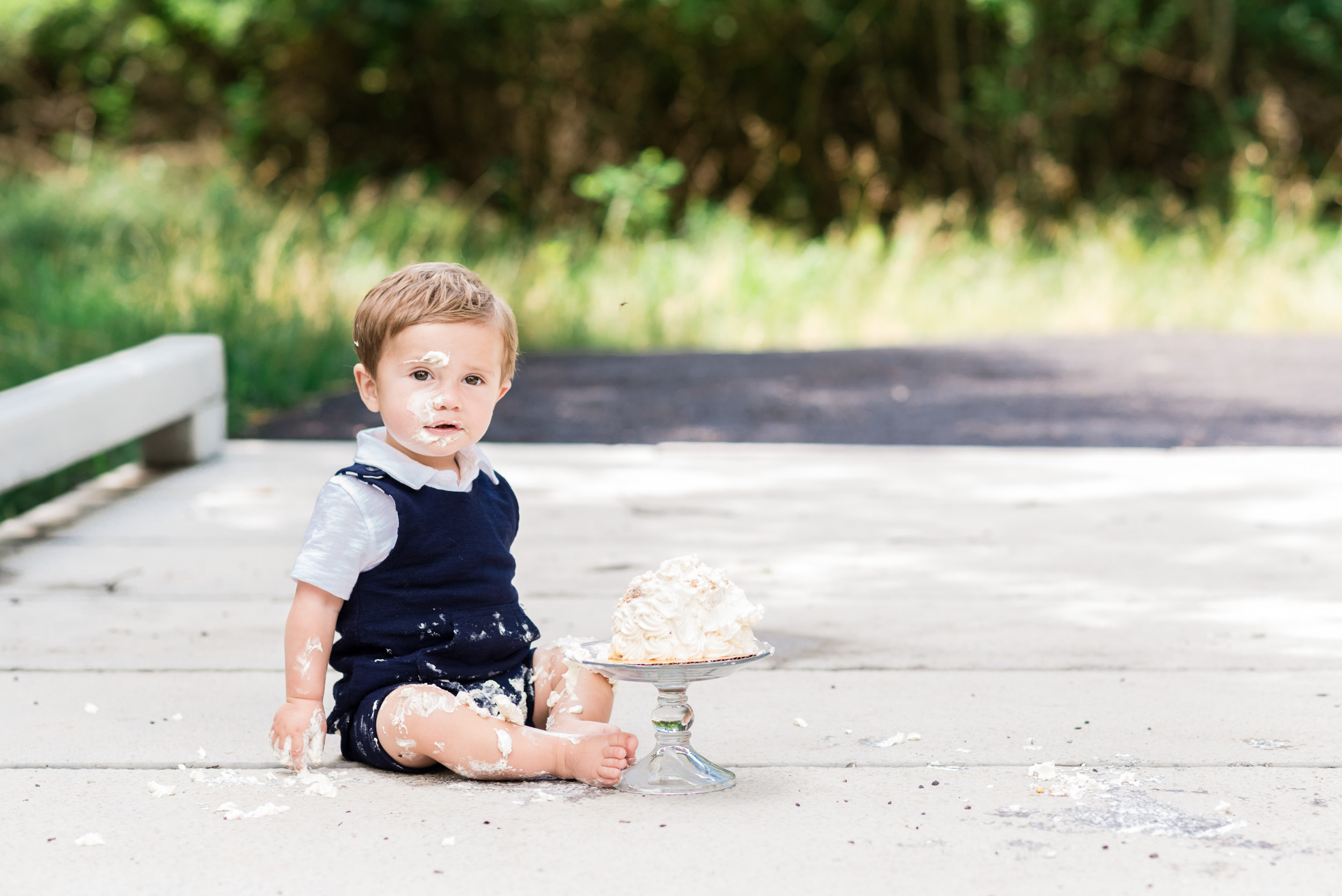 montgomery county pa cake smash one year old session