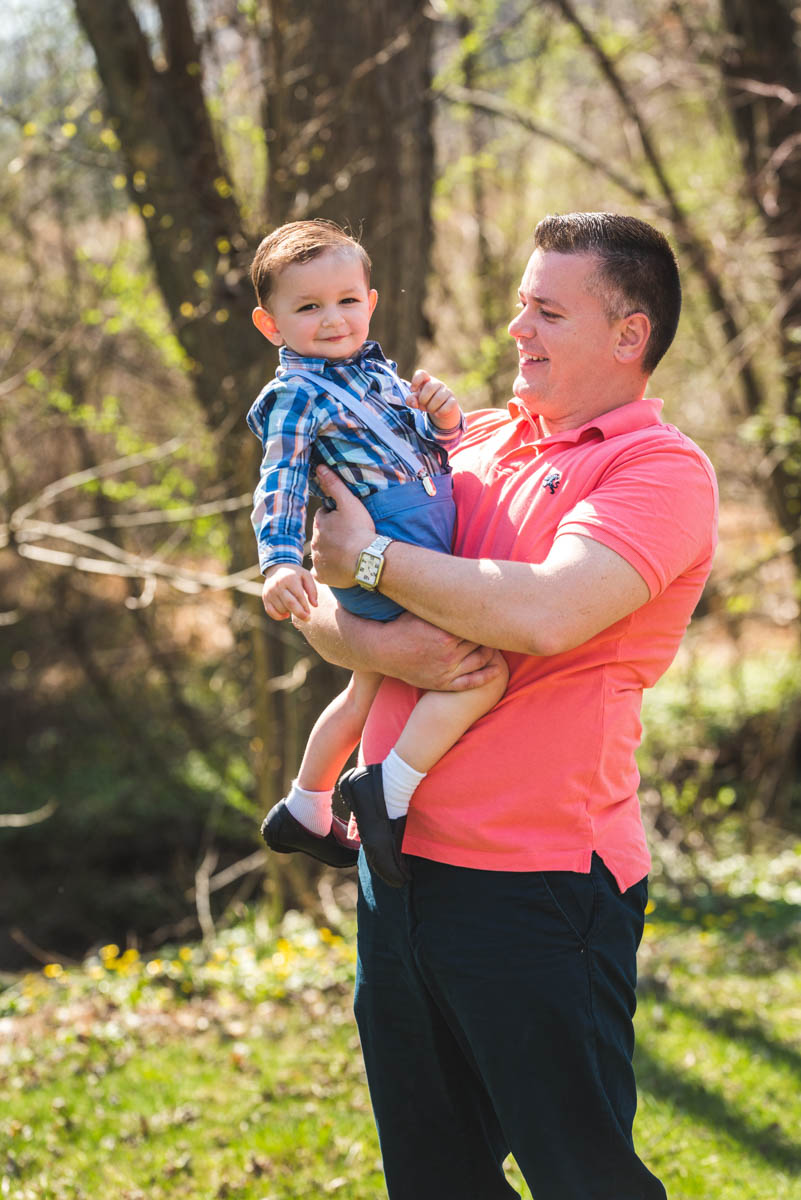 dad and son blue bell maternity photographer