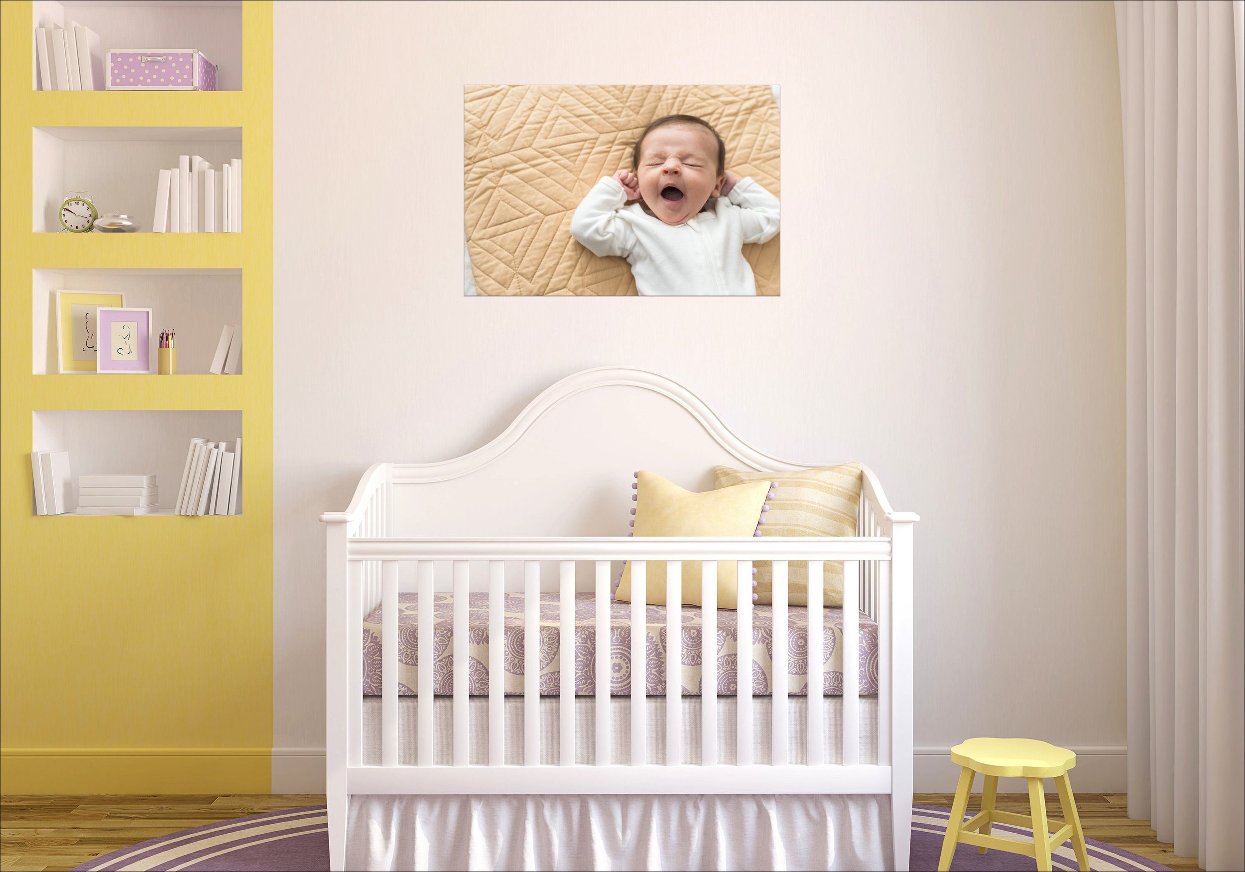 perfect Wall Art Display for over a crib