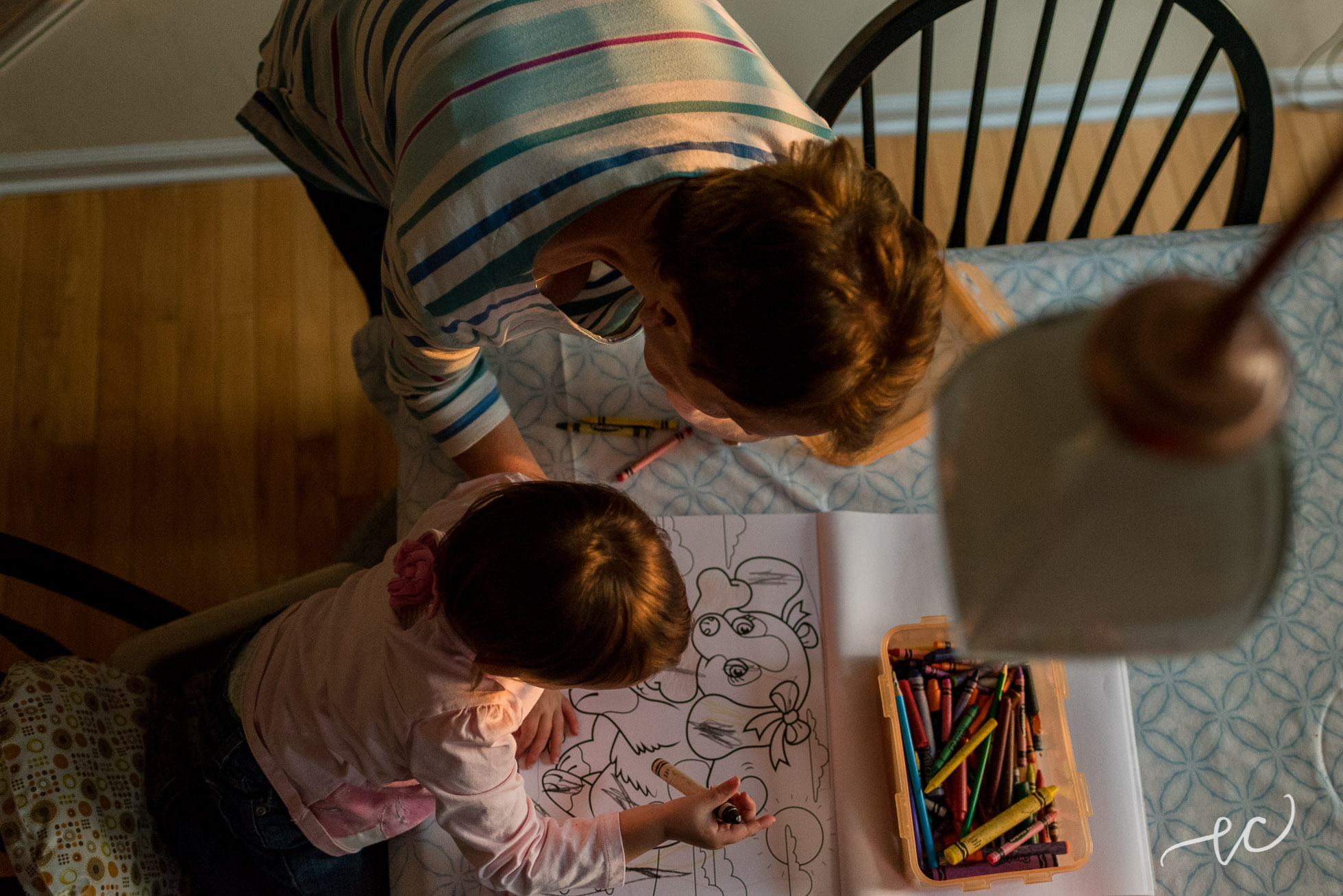coloring with grandmom. #goldenhour