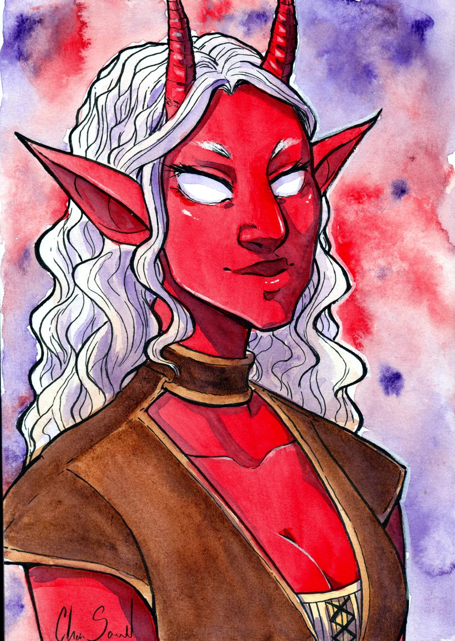 Traditional Watercolor: portrait