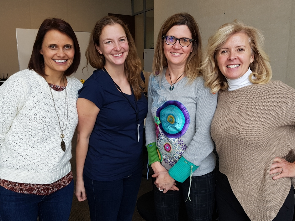 Our Director of User Experience Jennifer Krul, Director of Customer Success Tanya McPherson, Director of Data Analytics and Insights Dr. Tricia Barfoot, and CEO Mary Pat Hinton