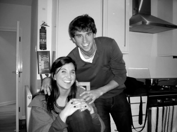 Our first picture together in my London flat the weekend that we met.