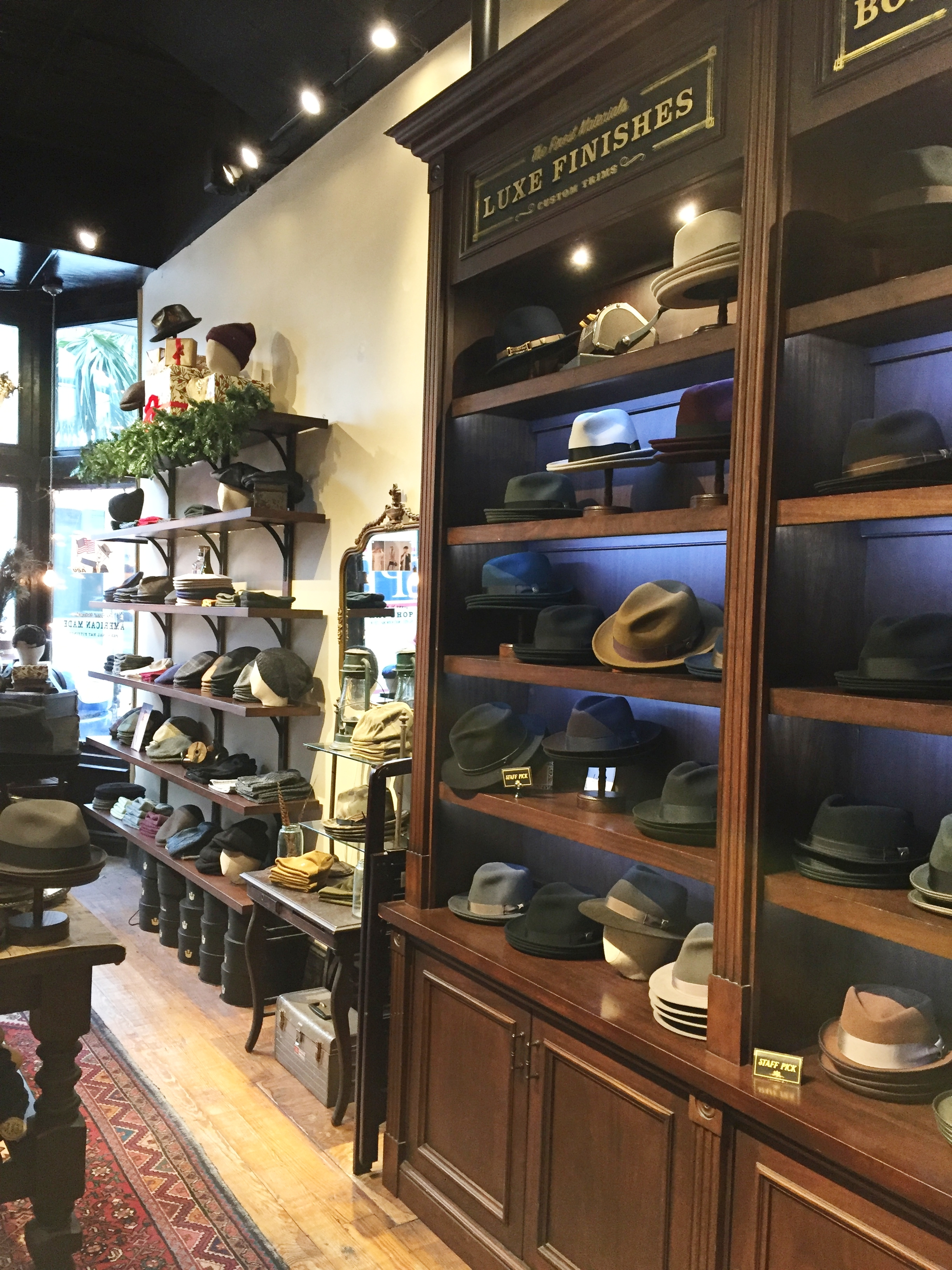 Goorin Brothers hat shop. Channeling my inner Don Draper or James Bond