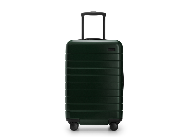Away Luggage - We own a carry-on and medium sized and could not rave about them more. They are lightweight, durable, sleek, and have a lifetime warranty! The carry-on also has a built in phone charger!