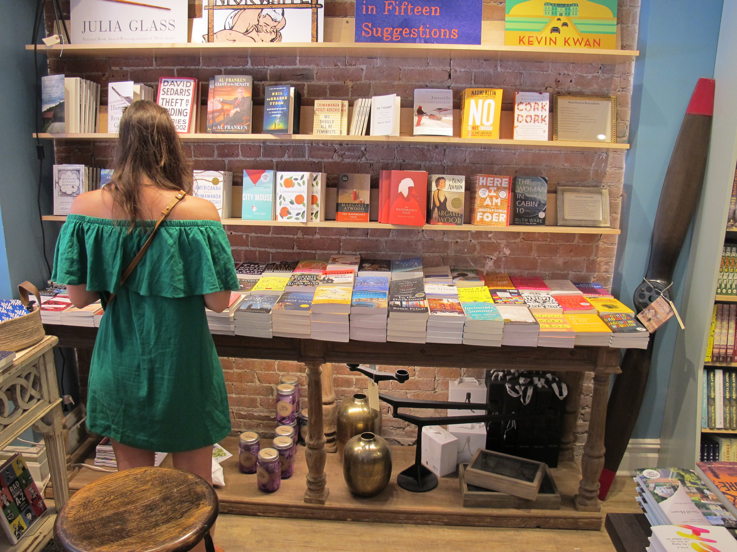 Shopping at Book Culture