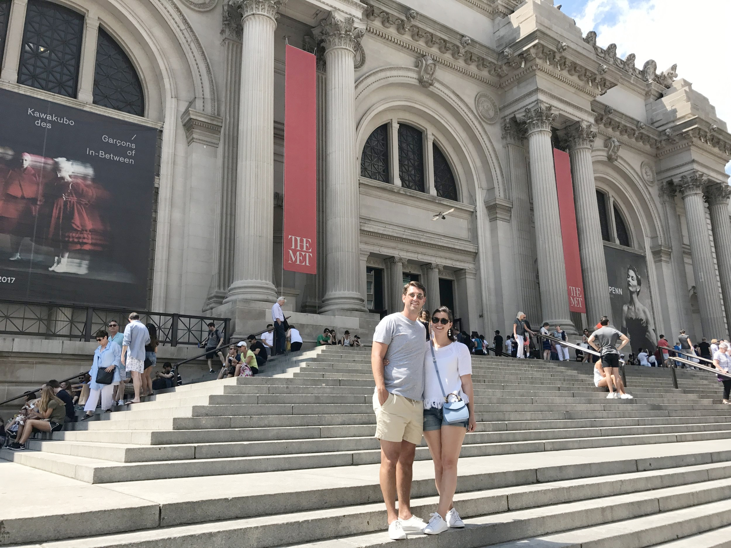 On the steps at the Metropolitan Art Museum