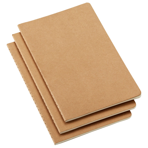 Moleskine Notebook - These light weight and soft cover notebooks are perfect for random thoughts, notes, agendas, or the odd game of hangman. They are less cumbersome than the hard cover notebooks Moleskine makes and they are also considerably cheaper.