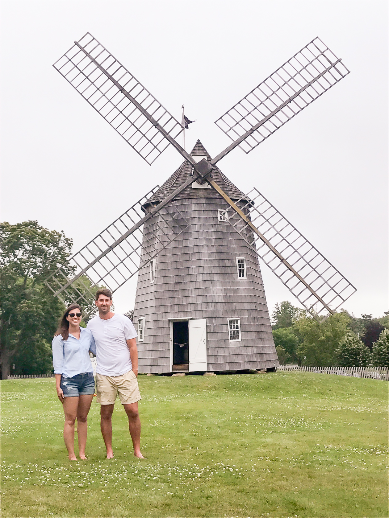 Posing at one of the windmills!