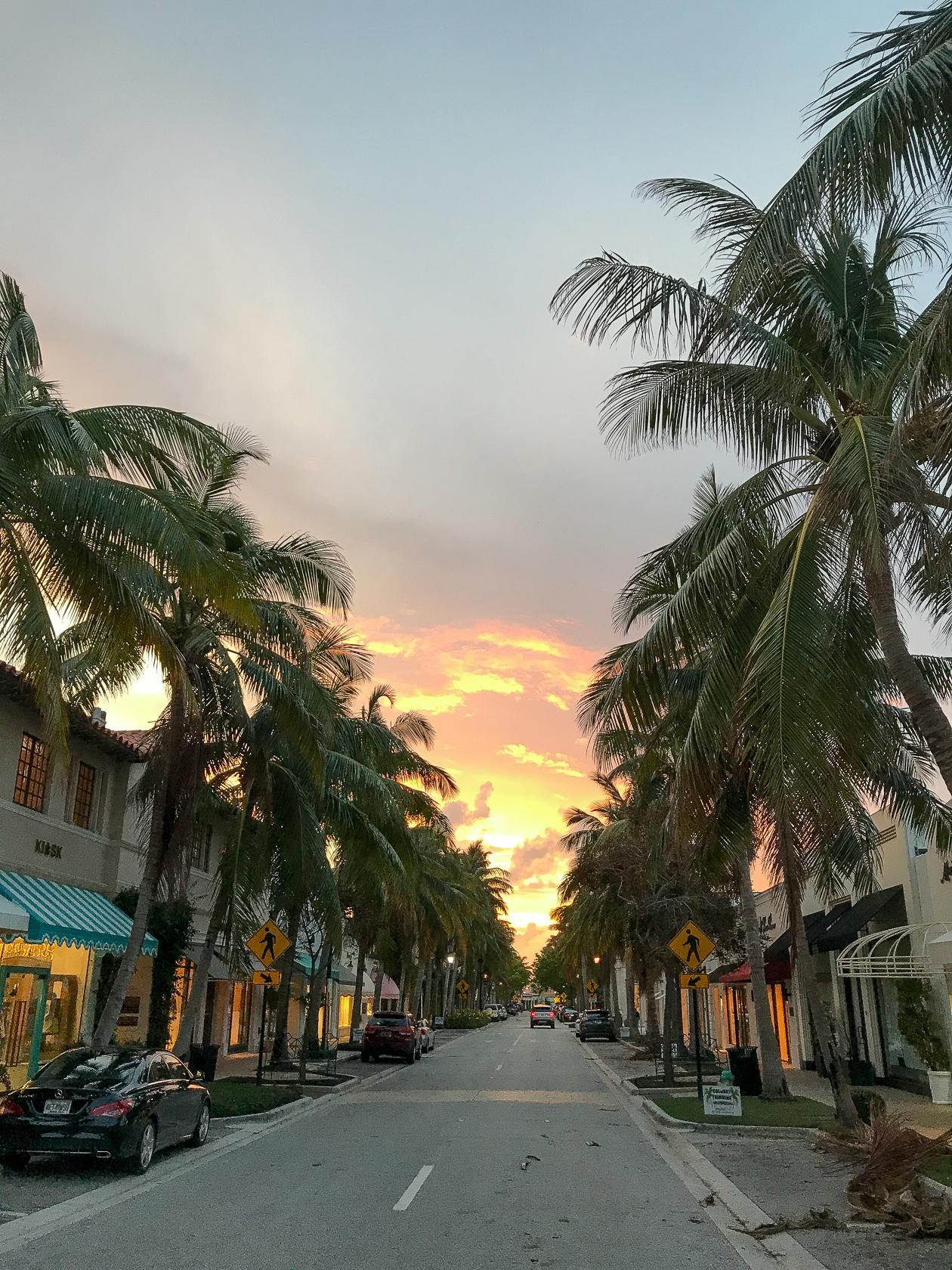 Sunset on Worth Ave.