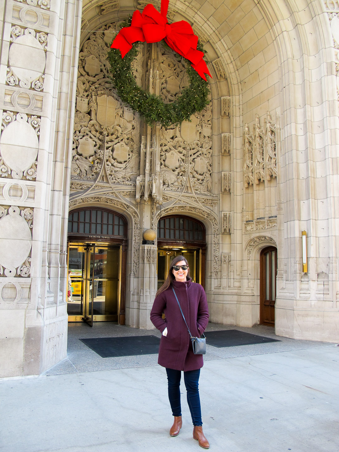In front of my old office building- The Tribune Tower!
