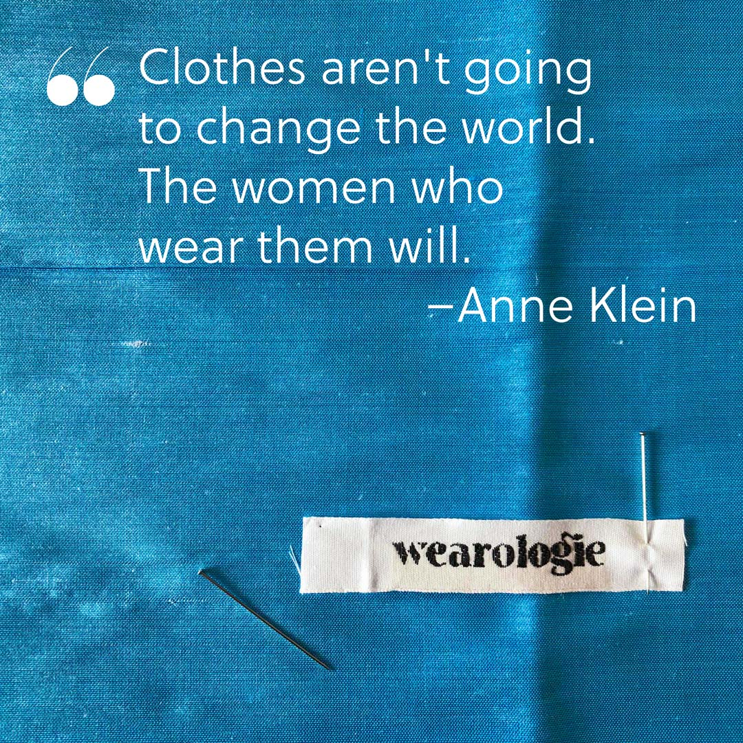 It's time for a fashion revolution! Join us in creating a more sustainable world by designing your dream wardrobe yourself. More infos and sewing patterns on Wearologie.com