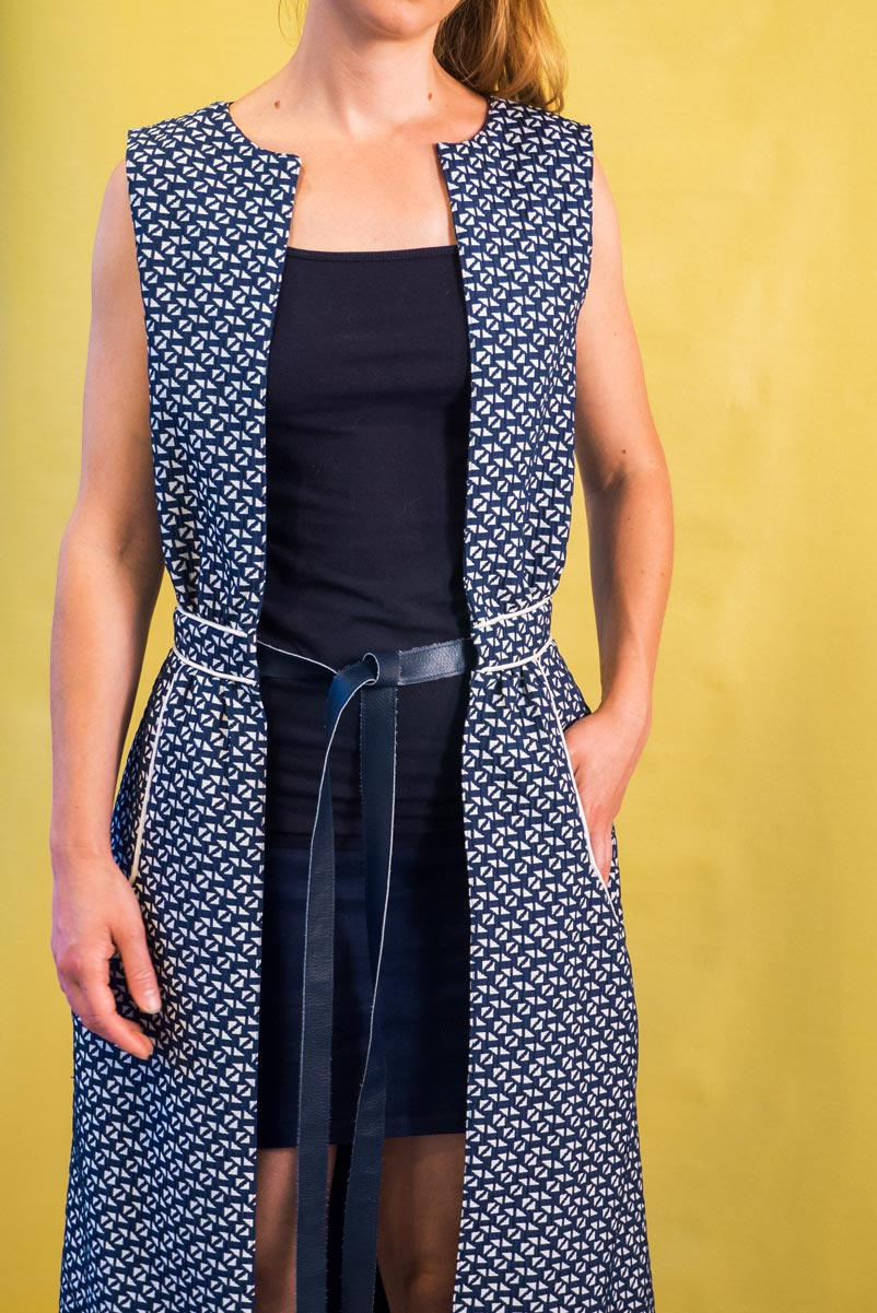 Get ideas and inspiration to sew your very own sleeveless vest Aestiva. Sewing pattern available on Wearologie.com