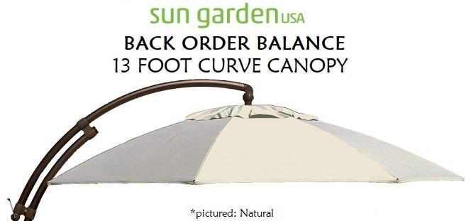 Sun Garden Replacement canopy — SUN GARDEN USA Cantilever Umbrella
