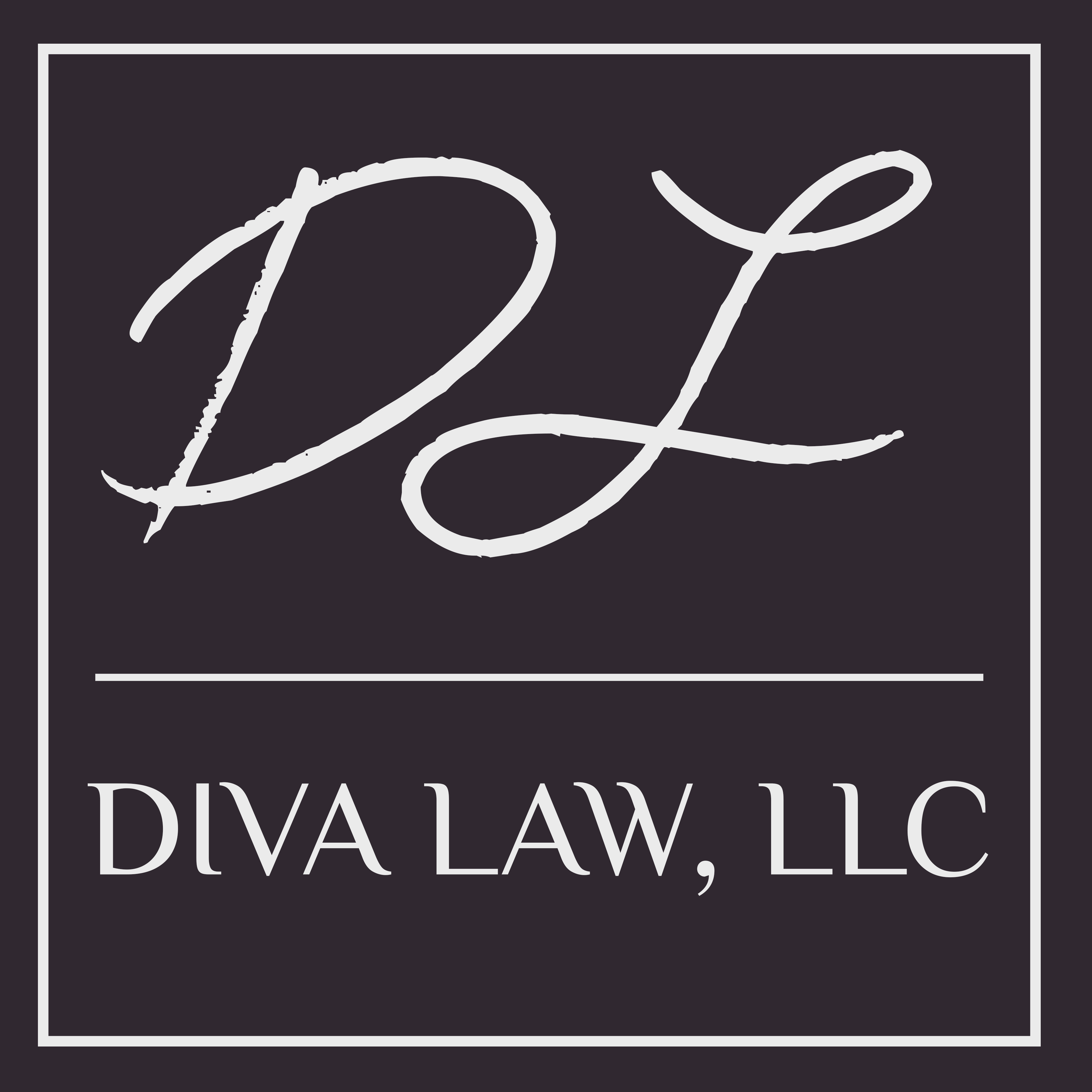Diva Law, LLC. - logo, branding, website, letterhead, business cards