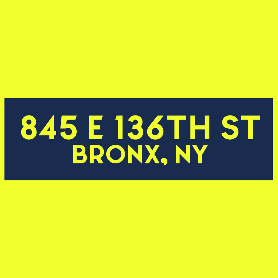 845 E 136th Street - website, logo