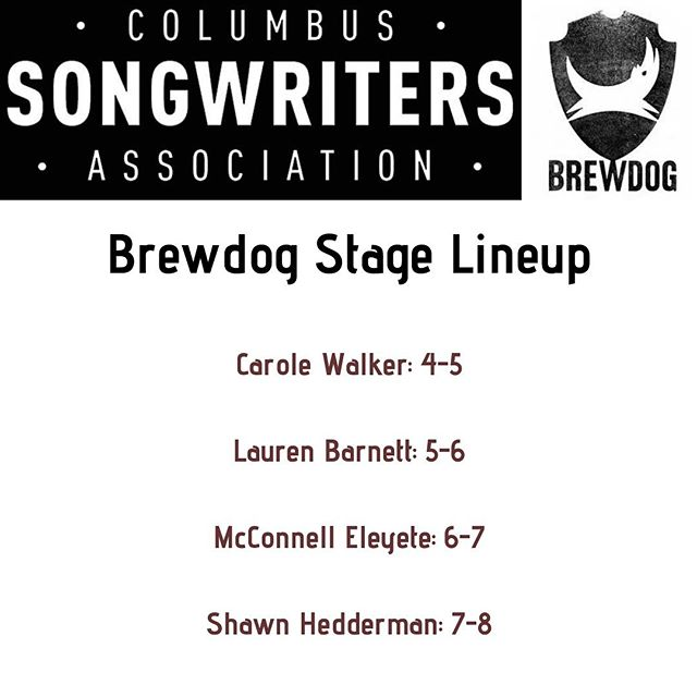 The @cbussongwriters will be hosting a stage on the rooftop patio at @brewdogusa this evening as part of the fest. Check em out and be sure to swing by their booth to learn what they're all about!  #patchbayfest #columbusmusic #columbusmakesart #brewdog #columbussongwritersassociation