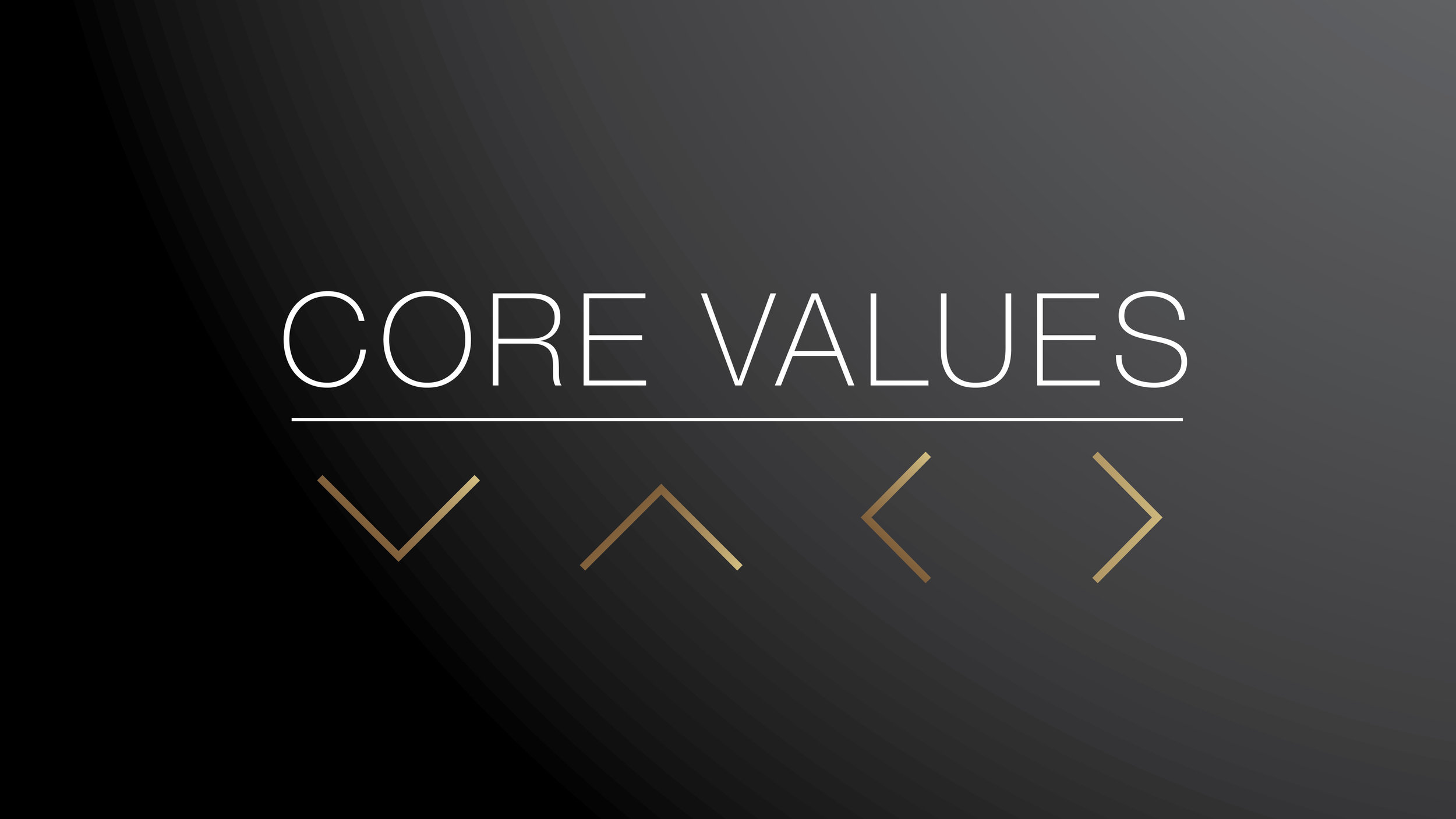 Core Values 2018 - Gospel, Worship, Community, Mission