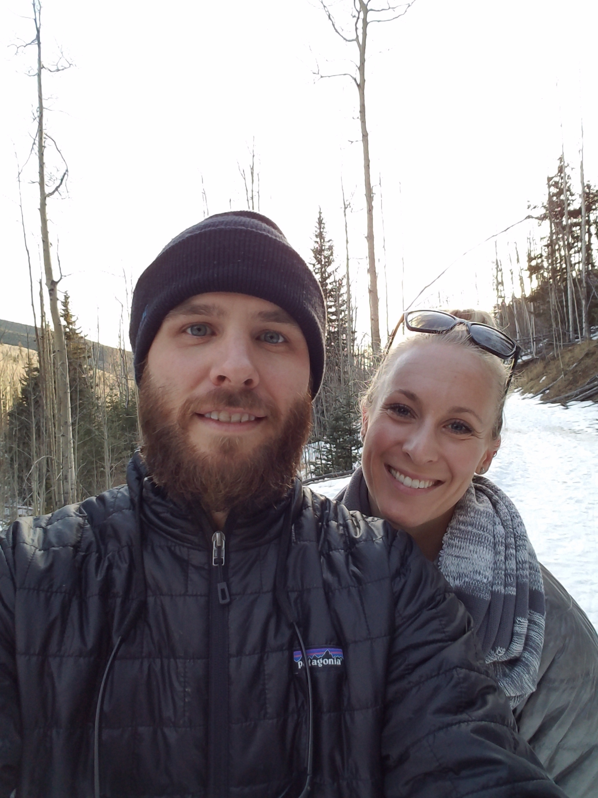 Out on a winter hike with my beautiful wife!