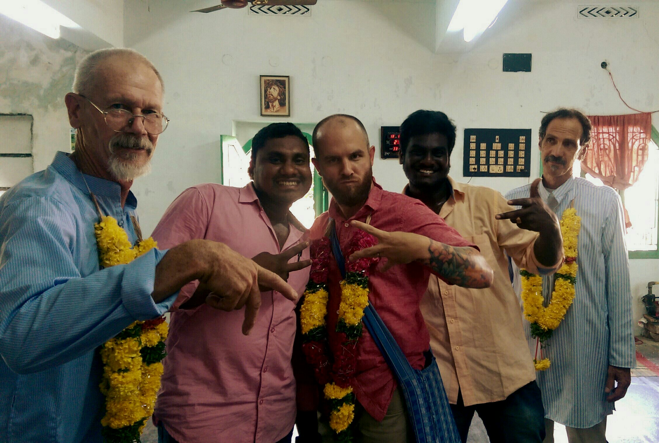 With some friends, gettin all gangsta in India!