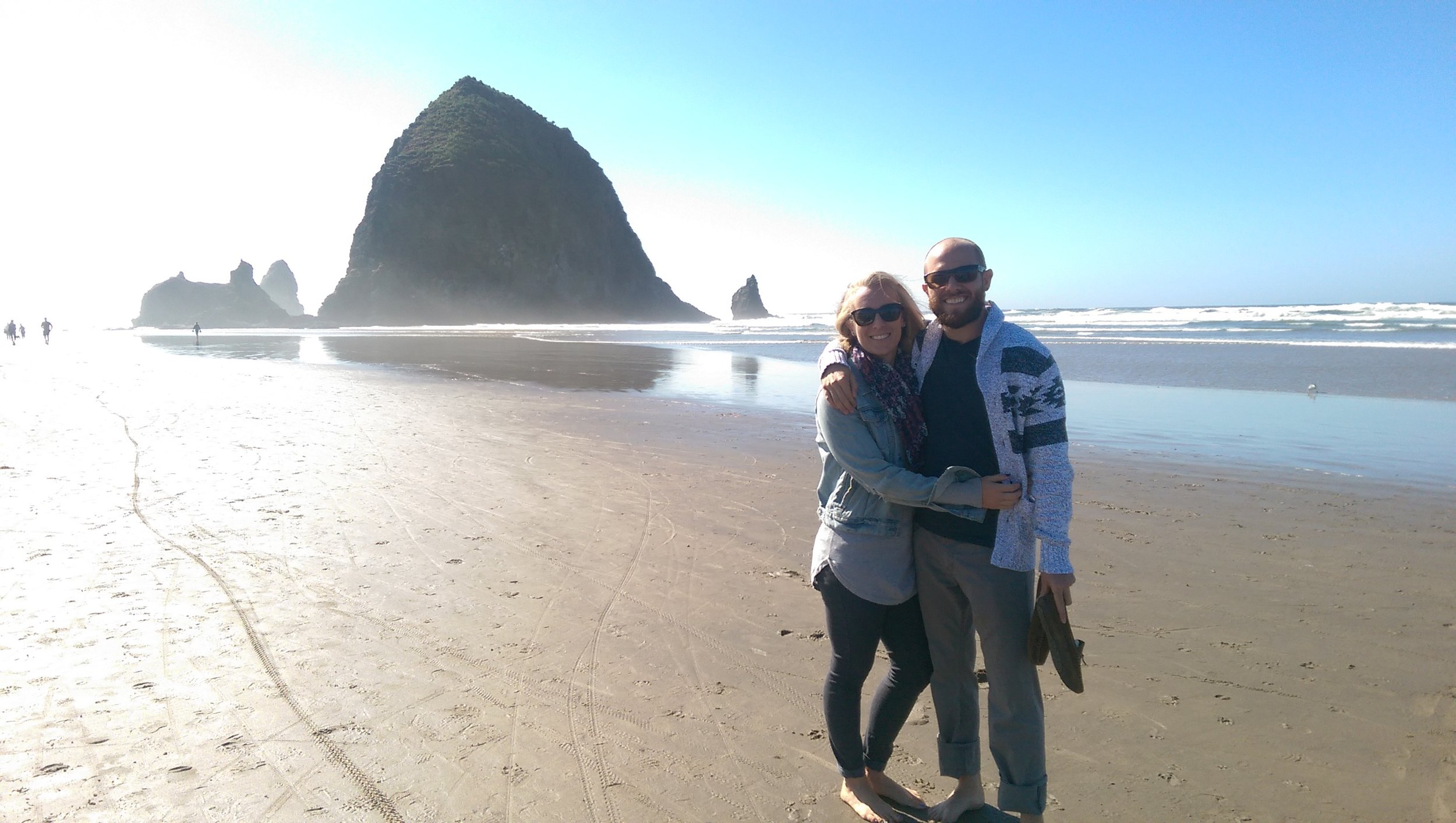 Liz and I again, at Haystack Rock on the Oregon coast