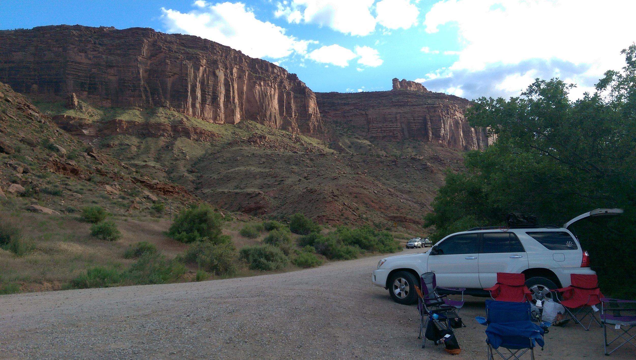 Our campsite view in Moab
